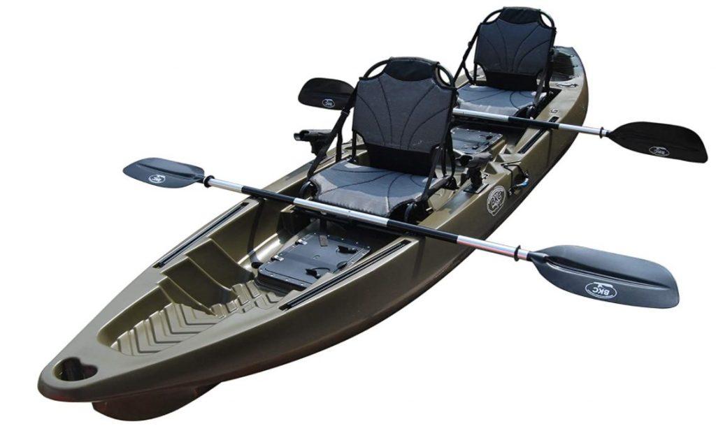 BKC TK122U 12′ 6″ Tandem 2 or 3 Person SIt On Top Fishing Kayak