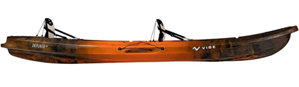 Vibe Kayaks Skipjack 120T 12 Foot Tandem Angler and Recreational Two Person Sit On Top Fishing Kayak