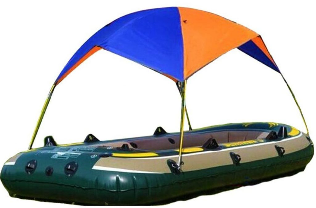 Inflatable Kayak Awning Canopy, Folding Inflatables Boat Awning Top Cover Canopy