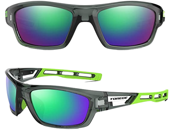 TOREGE Polarized Sports Sunglasses for Man and Women